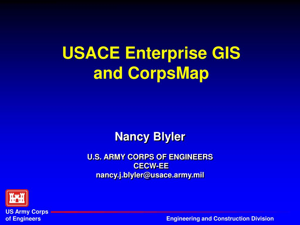 usace enterprise gis and corpsmap l.