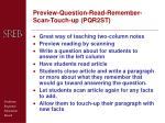preview question read remember scan touch up pqr2st