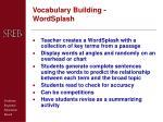 vocabulary building wordsplash
