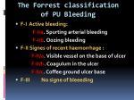 the forrest classification of pu b leeding
