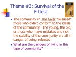 theme 3 survival of the fittest