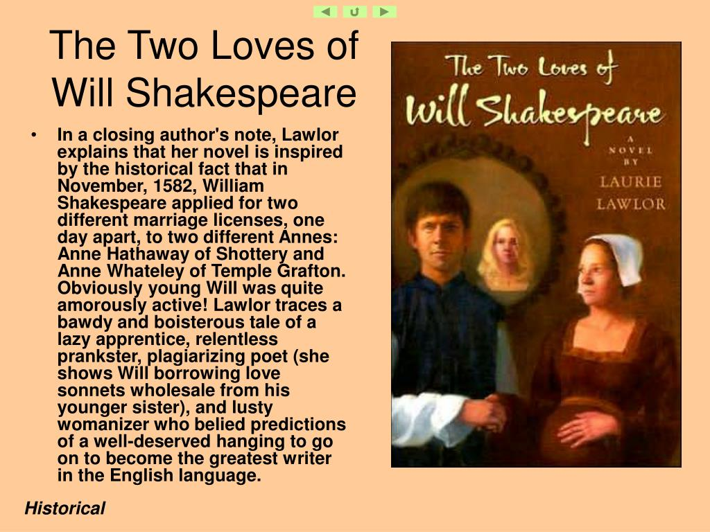 The Two Loves of Will Shakespeare