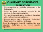 challenges of insurance regulation