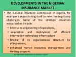 developments in the nigerian insurance market