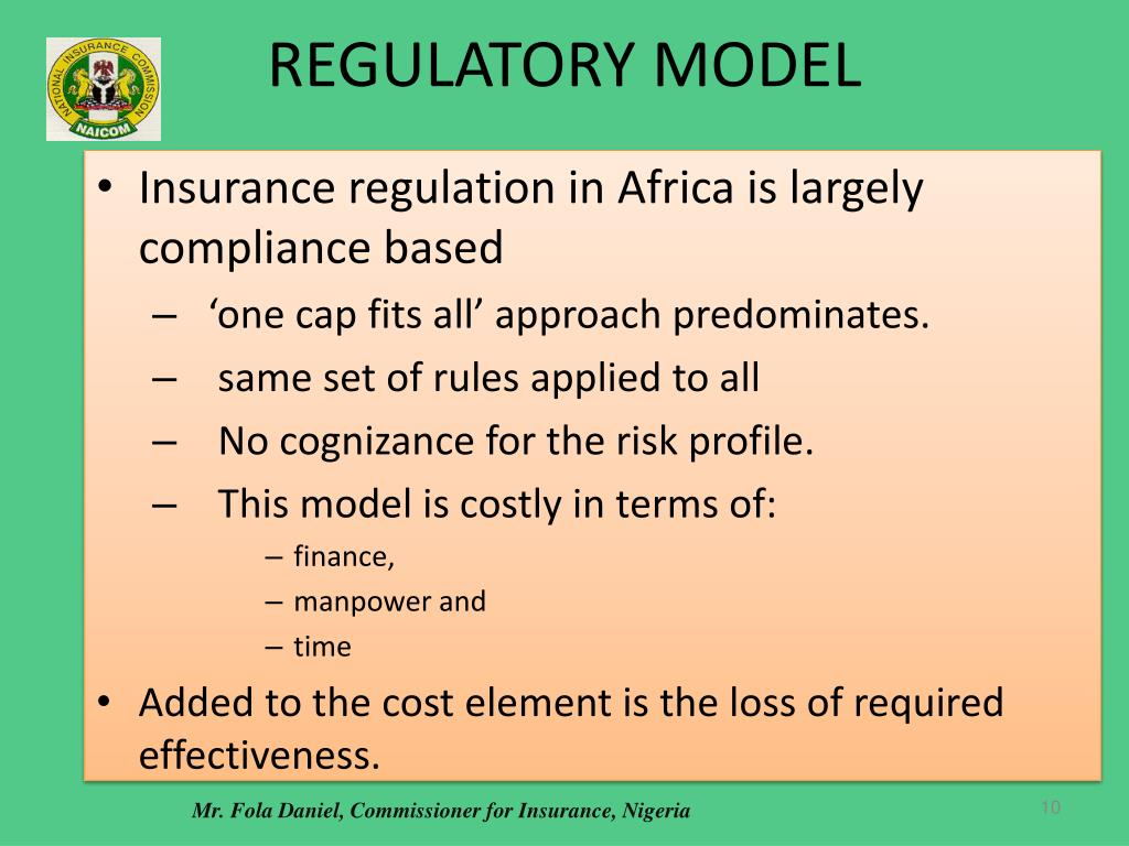 REGULATORY MODEL
