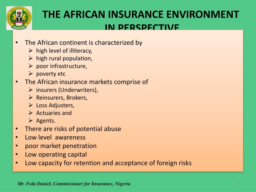 THE AFRICAN INSURANCE ENVIRONMENT