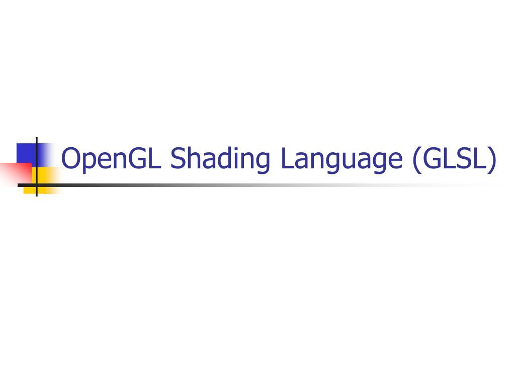 opengl shading language glsl l.
