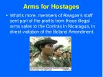 arms for hostages