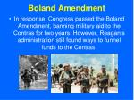 boland amendment