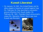 kuwait liberated