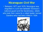 nicaraguan civil war