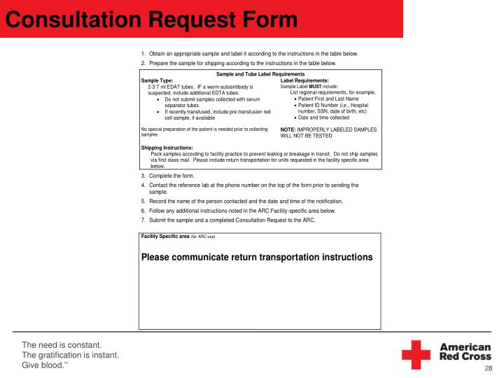 Consultation Request Form