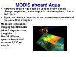 modis aboard aqua