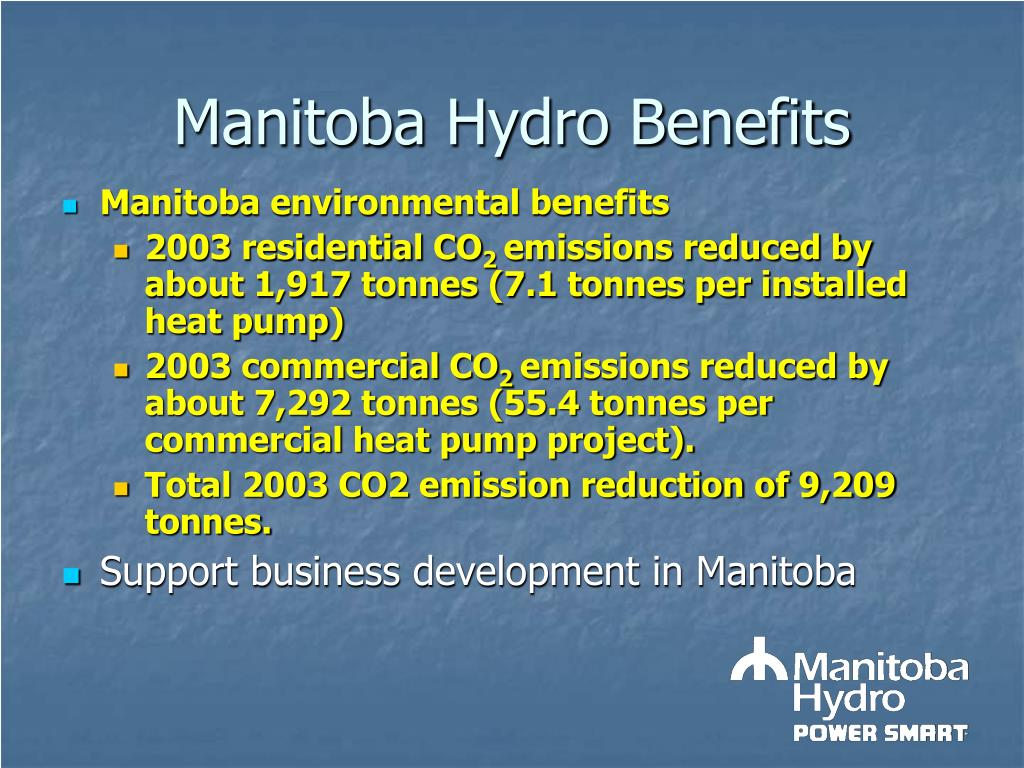 Manitoba Hydro Benefits