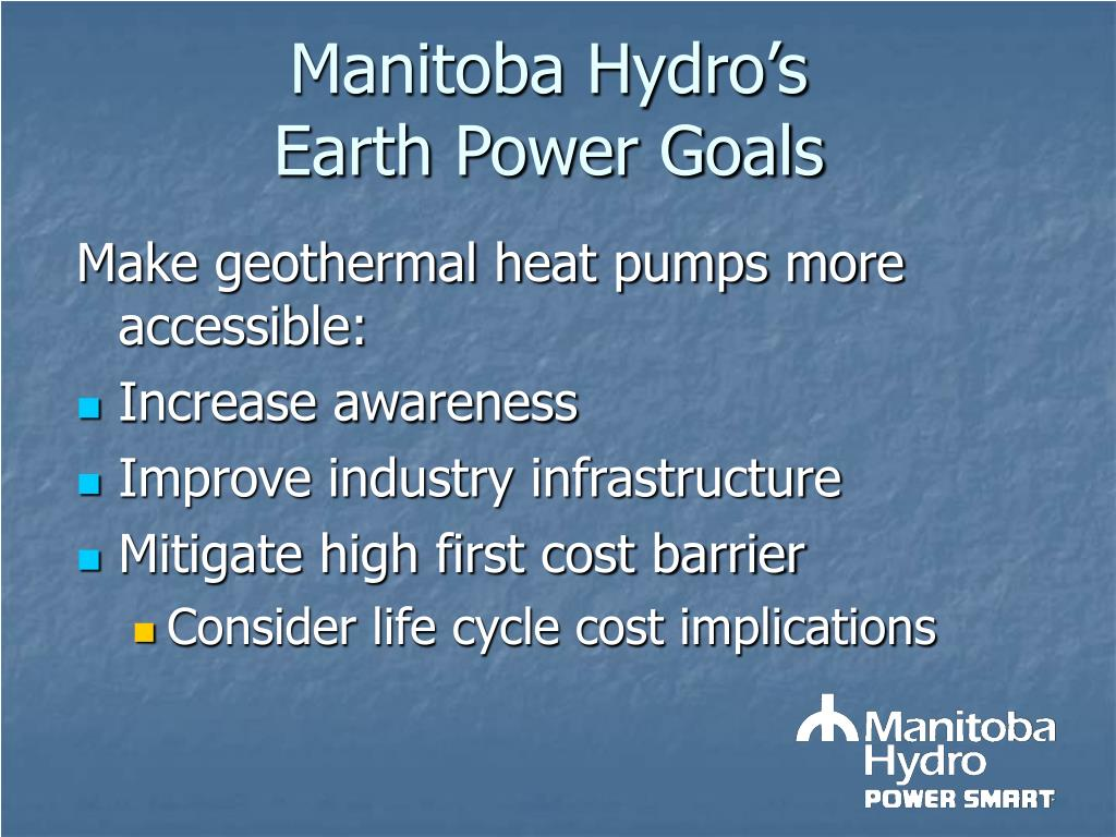 Manitoba Hydro's Earth Power Goals