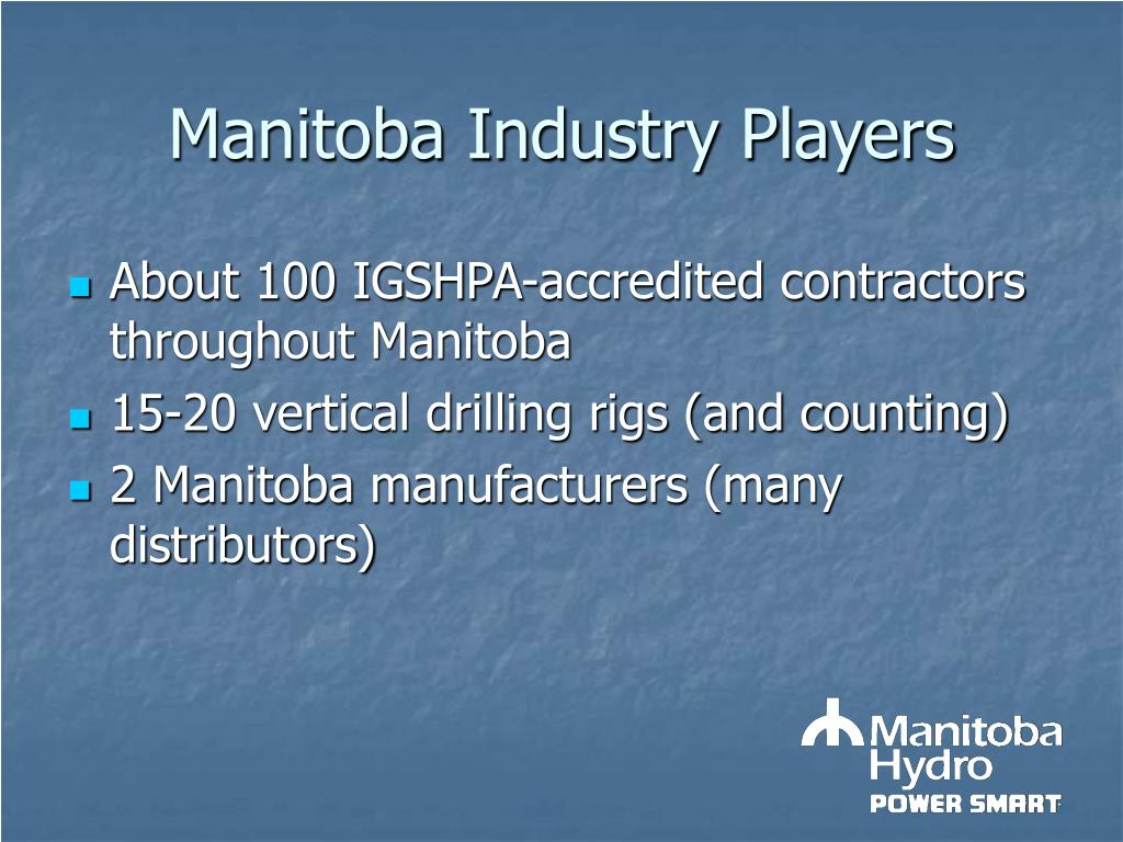 Manitoba Industry Players