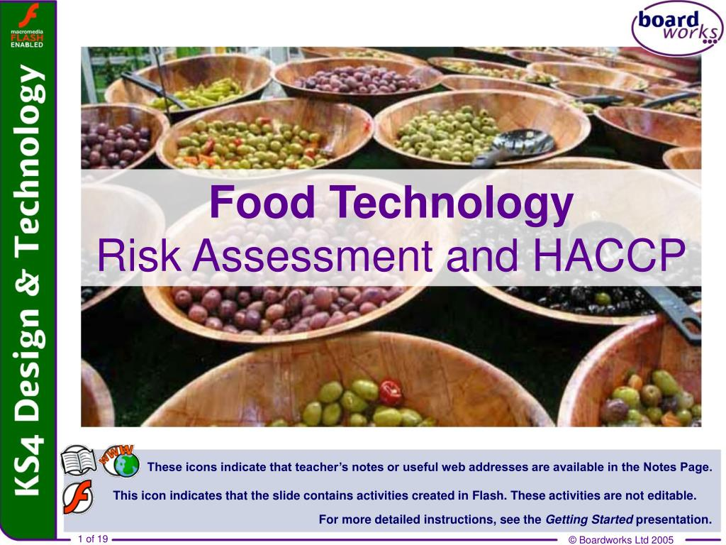 food technology risk assessment and haccp l.