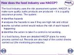 how does the food industry use haccp