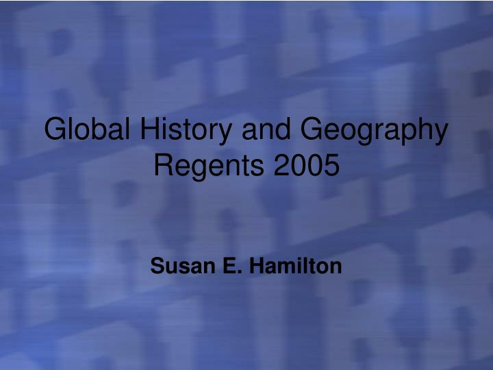 global history and geography regents 2005 n.