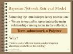 bayesian network retrieval model22