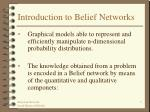 introduction to belief networks