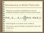 introduction to belief networks9