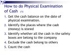 how to do physical examination of cash 1