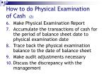 how to do physical examination of cash 2