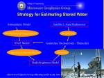 strategy for estimating stored water