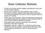 solar collector markets