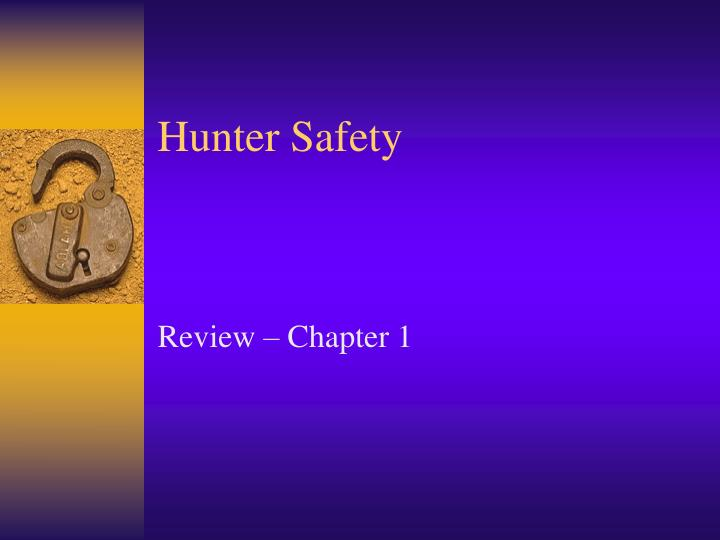 hunter safety n.