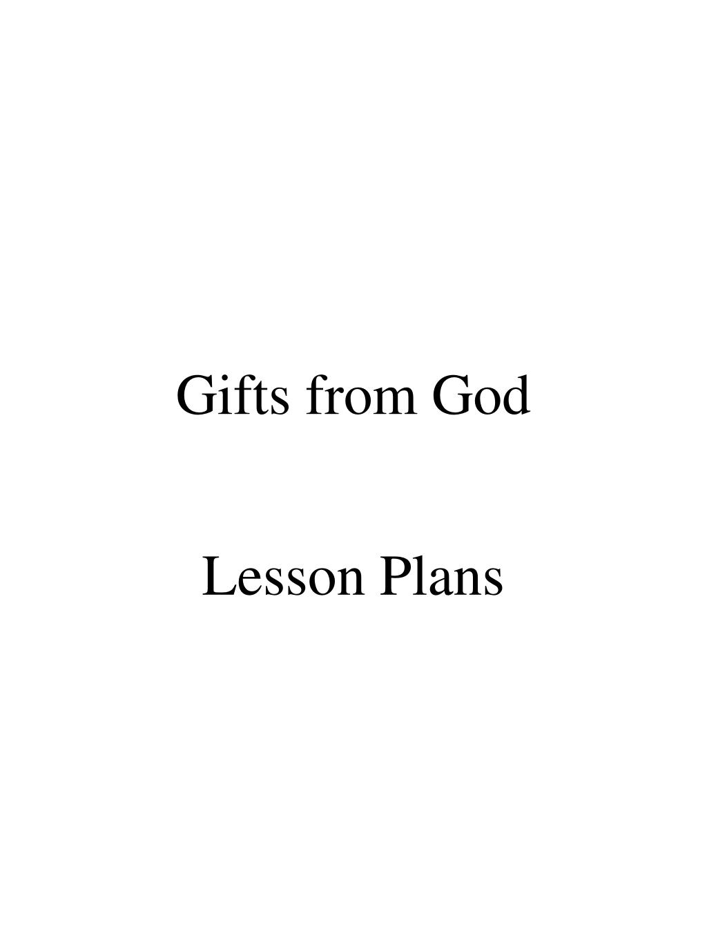 gifts from god l.