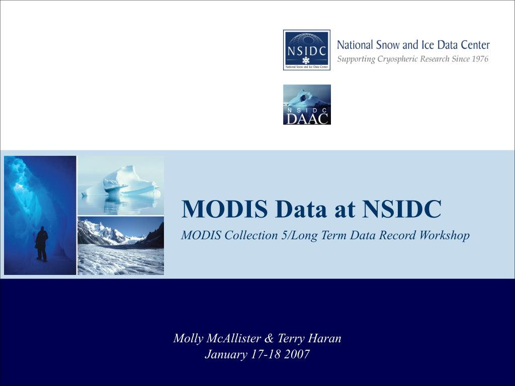 modis collection 5 long term data record workshop l.