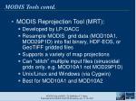 modis tools contd