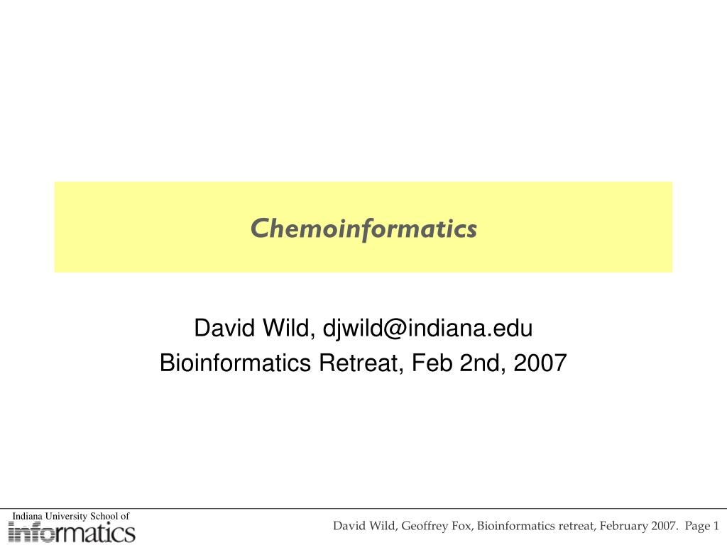 chemoinformatics l.
