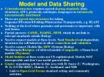 model and data sharing