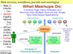 web services workflows portals and ontologies