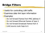 bridge filters