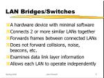lan bridges switches