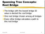 spanning tree concepts root bridge