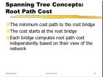 spanning tree concepts root path cost