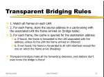 transparent bridging rules