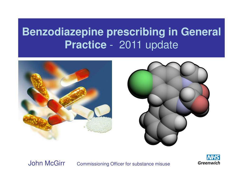 benzodiazepine prescribing in general practice 2011 update l.