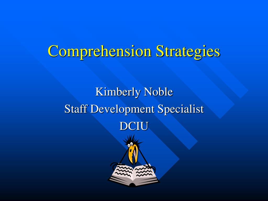 comprehension strategies l.
