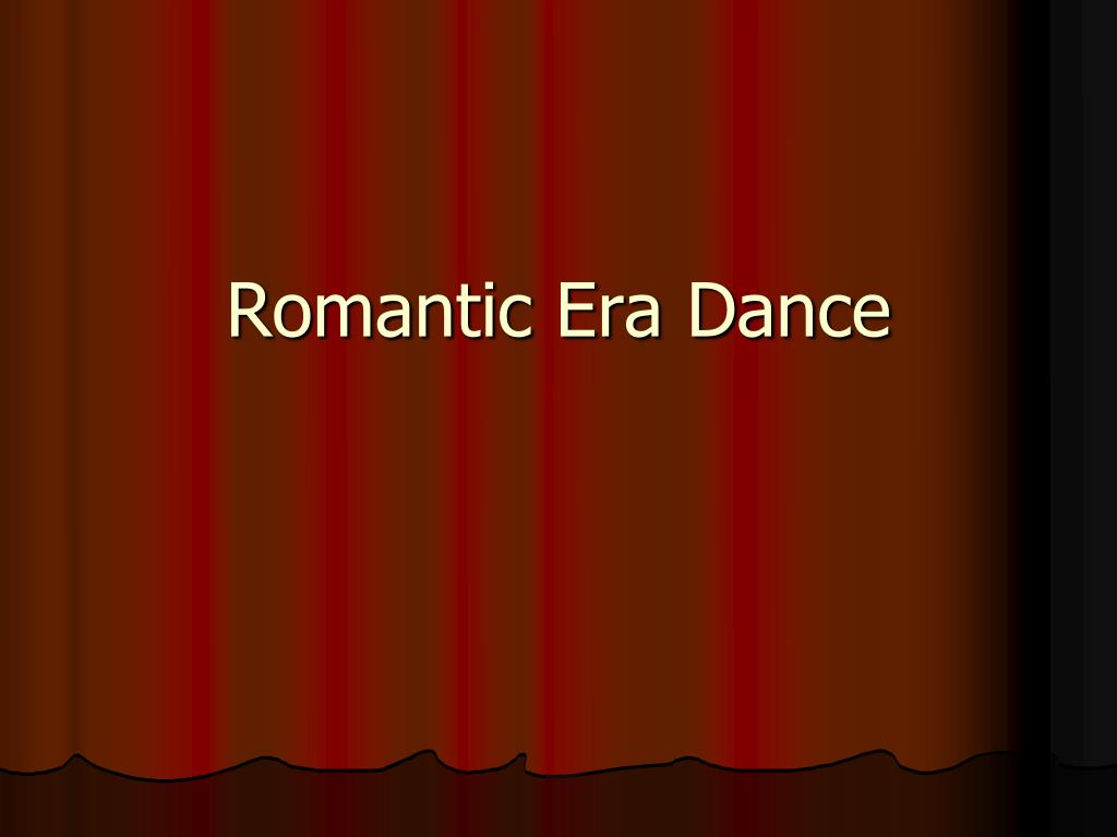 romantic era dance l.