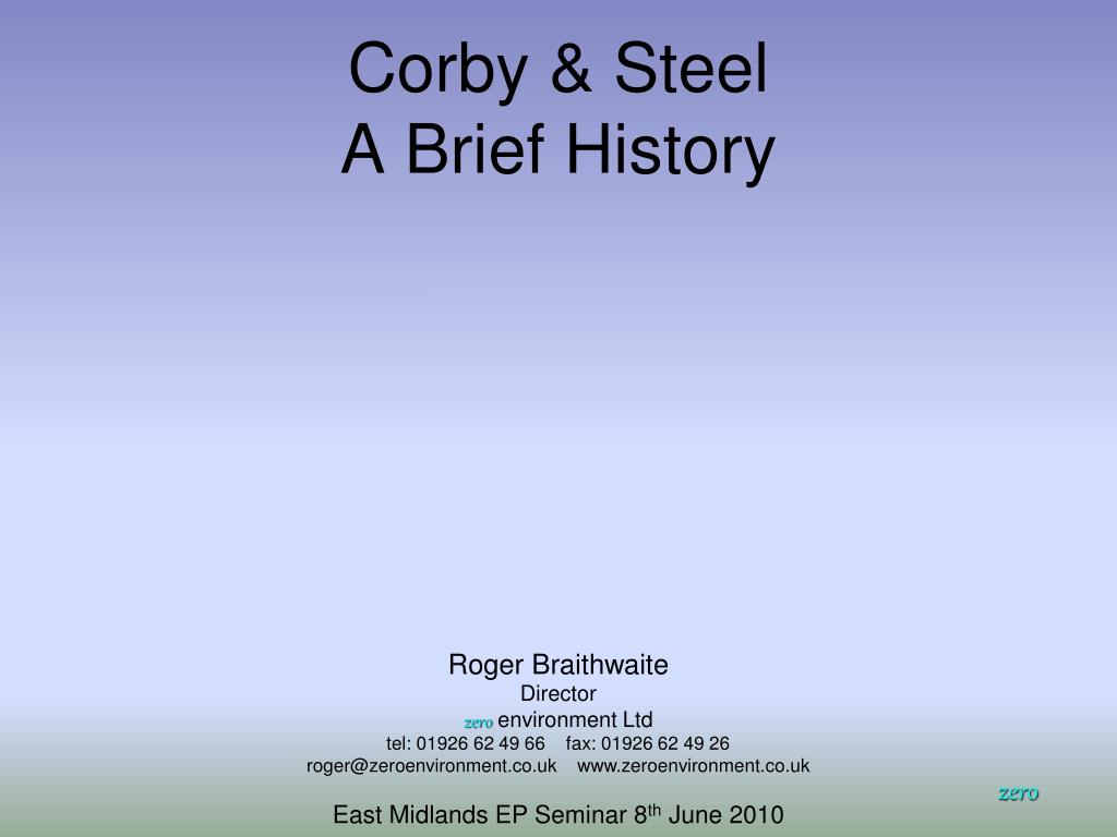 corby steel a brief history l.