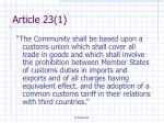article 23 1