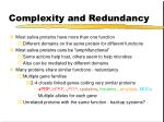 complexity and redundancy