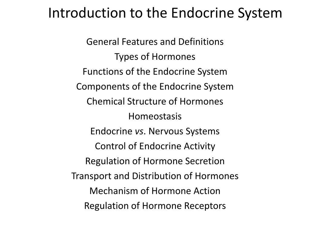 introduction to the endocrine system l.