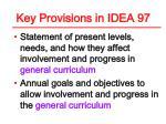 key provisions in idea 97